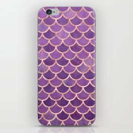 Mermaid Scales Pattern in Purple and Rose Gold iPhone Skin