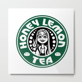 Honey Lemon Tea Metal Print