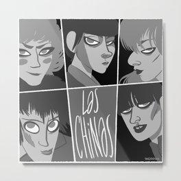 Las chinas Black and White Metal Print
