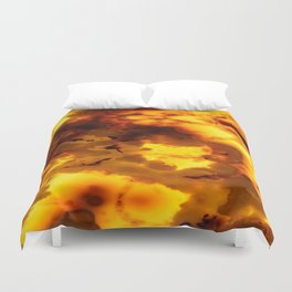 Back lit Marble abstract Duvet Cover