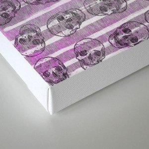 Grunge Skulls Canvas Print