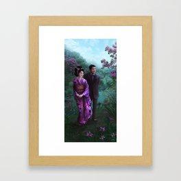 Sakura Garden Framed Art Print