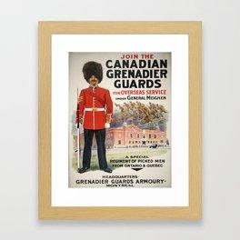 Vintage poster - Canadian Grenadier Guards Framed Art Print