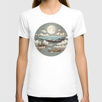 sky T-shirts featuring Ocean Meets Sky (original) by Terry Fan