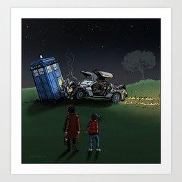 Time Machine Collision Art Print