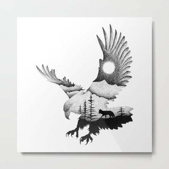 THE EAGLE AND THE FOX Metal Print
