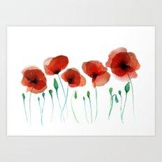 Poppies 2015 Art Print