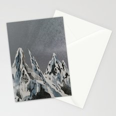 Mountains - Winter Sky Stationery Cards