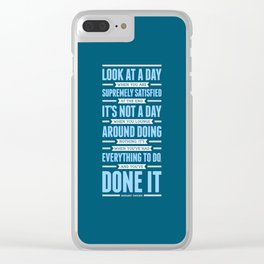 Lab No. 4 Look At A Day When Margaret Thatcher Inspirational Quote Clear iPhone Case