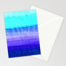 Ocean Horizon - cobalt blue, purple & mint watercolor abstract Stationery Cards