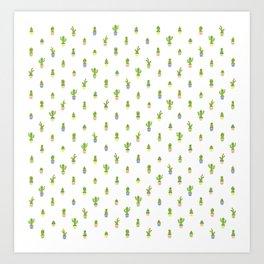 Cute Cacti Art Print