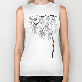 Faces Blossom on a Dried Vine Biker Tank