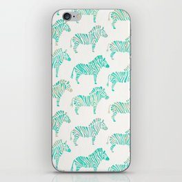 Zebras – Mint Palette iPhone Skin