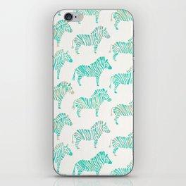 Zebras – Mint Palette iPhone Skin
