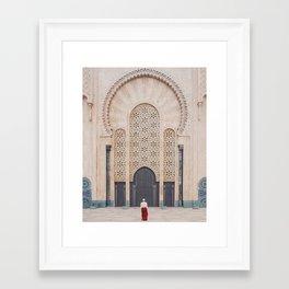 Hassan II Mosque, Casablanca Framed Art Print