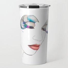 Lips art, Art Print, Digital Art, Makeup Painting, Poster Art, Printable Art Travel Mug