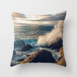 Perfect Wavebreak Throw Pillow