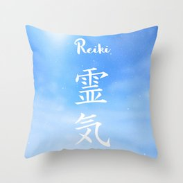 Sacred geometry. Reiki symbol. The word Reiki is made up of two Japanese words, Rei means 'Universal Throw Pillow