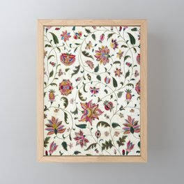 Ancient Florals Framed Mini Art Print