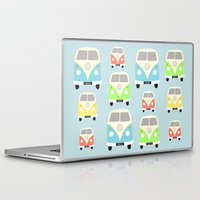 vans Laptop & iPad Skins featuring Camper Vans by Laura Maria Designs