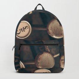 Vintage Typewriter - Macro Photography #Society6 Backpack
