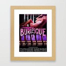 BURLESQUE POSTER 1 Framed Art Print