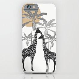 Giraffe Tropical Print iPhone Case