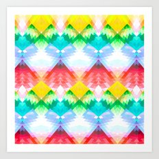 Crystal Rainbow Art Print