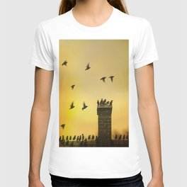 Rooftop Birds T-shirt