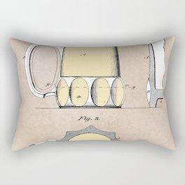 patent Beer Mugs Rectangular Pillow