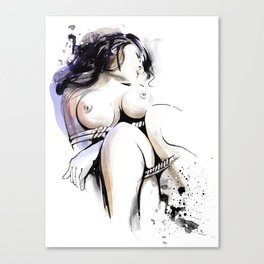 Shibari - Japanese BDSM Art Painting #13 Canvas Print