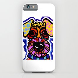 Rover Terrier Dog Airedale Wheaton Lakeland Kerry Schnauzer Fox Puppy Pet Animal iPhone Case