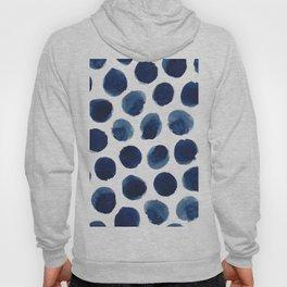 Watercolor polka dots Hoodie