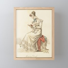 Vintage Fashion Plate -- The Lady's Magazine Framed Mini Art Print