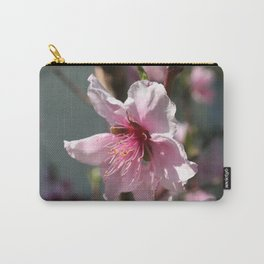 Close Up of Peach Tree Blossom Carry-All Pouch