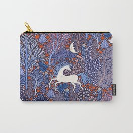 Unicorns in a nocturnal Forest Carry-All Pouch