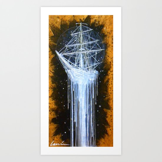 """Man-O-War II"" Art Print"