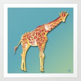 Giraffe - A Fantastic Journey Art Print