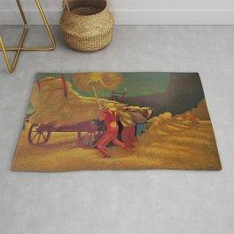 Classical Masterpiece 'Race Against the Rain' by Bernard J. Steffen Rug