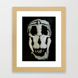 Dali Human Skull Framed Art Print