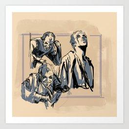 Floki Sketches 2 Art Print