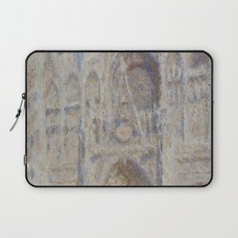 "Claude Monet ""Rouen Cathedral The Portal (Sunlight)"" Laptop Sleeve"