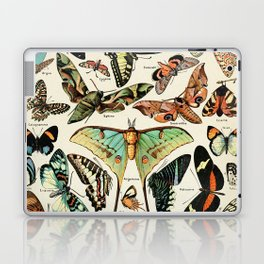 Papillon I Vintage French Butterfly Charts by Adolphe Millot Laptop & iPad Skin