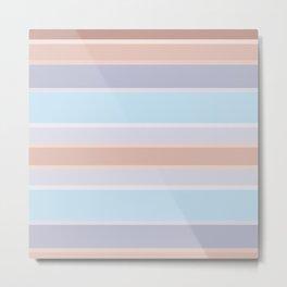 Pastel stripes 1 Metal Print