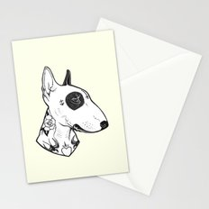 Bull Terrier dog Tattooed Stationery Cards