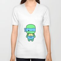 leonardo V-neck T-shirts featuring Leonardo by broflo