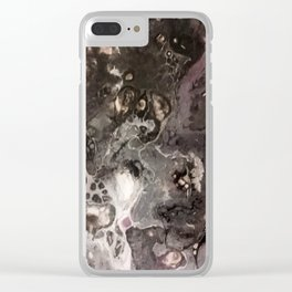 Purple toasted smoke Clear iPhone Case