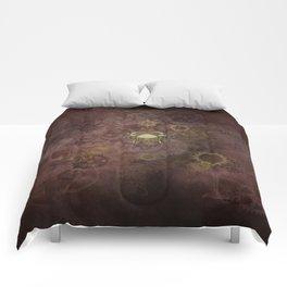Steampunk Zodiac Cancer Comforters