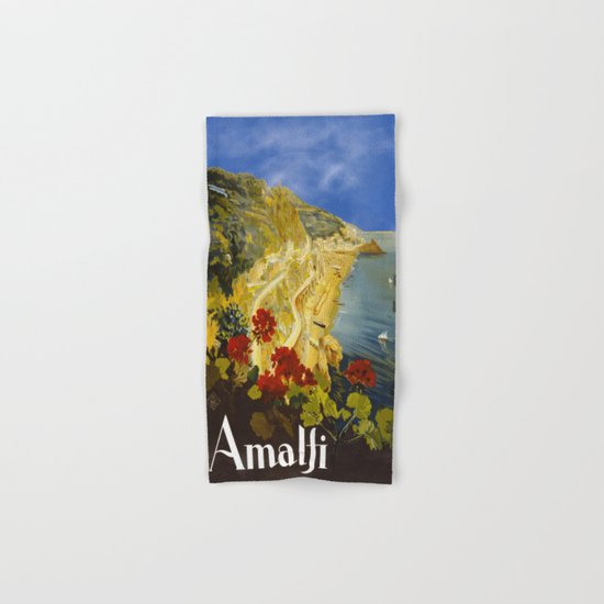 Vintage Amalfi Italy Travel Hand & Bath Towel