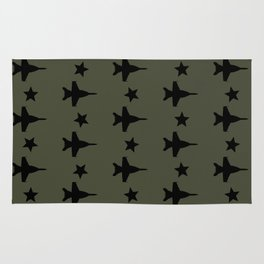 F-18 Hornet Fighter Jet Pattern Rug